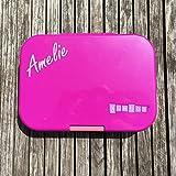 Anton & Sophie YUMBOX Malibu Pink Panino - Pinke Brotbox mit Wunschnamen - auslaufsicher & Robust - Perfekt zur Einschulung