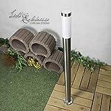 Edelstahl Stehleuchte Weglampe 1,1m hoch E27 bis 60W Wegeleuchte für Außen Auffahrt Hof Garten Außenleuchte Außenlampe