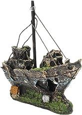Generic Aquarium Ornament Wreck Sailing Boat Sunk Ship Destroyer