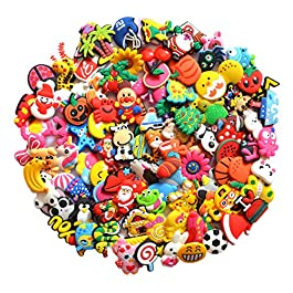 Diverse 100 pcs PVC shoe charms for Croc & Jibbitz Bands Bracelet Wristband from US
