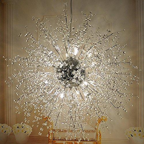 Lampadari a sfera con fuochi d'artificio a forma di stella, lampada da soffitto a LED in acciaio inox post moderno Creative Iron living room Lampada da pranzo per sala da pranzo, luce calda