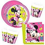 Disney Minnie Mouse - Party Set - 8x Platos 10x Vasos 20x Servilletas