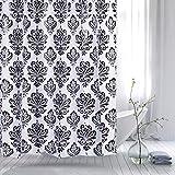 Duschvorhang Badevorhang PEVA Wasserdicht und Wasserabweisend mit 12 Vorhangringen 180x180 Deluxe