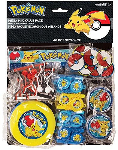 Amscam Méga Paquet de Jouet économique sur Le thème Pokémon