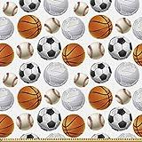 ABAKUHAUS Sport Microfaser Stoff als Meterware, Fußball