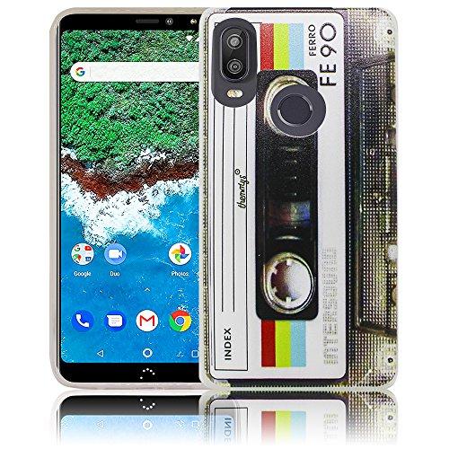 thematys Passend für Bq Aquaris X2 / X2 PRO Kassette Retro Handy-Hülle Silikon - staubdicht stoßfest & leicht - Smartphone-Case