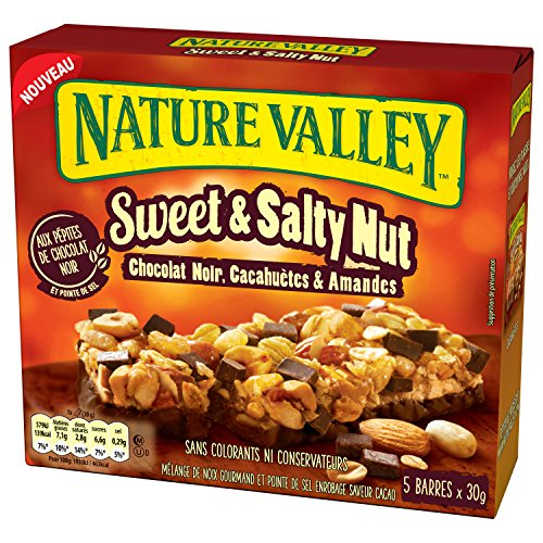 Nature Valley Sweet Salty Chocolat Noir 5 x 30 g