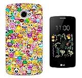 925 - Collage Multi Smiley Faces Emoji Design LG K5 Fashion