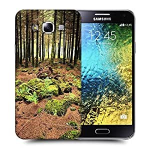Snoogg Abstract Rocks In Forest Printed Protective Phone Back Case Cover ForSamsung Galaxy E5