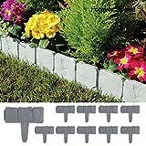 Forever Speed 10 Piezas Empalizada para jardines Stone Efecto de Plástico en Patio Bordes Border Lakeland Borde de Jardín