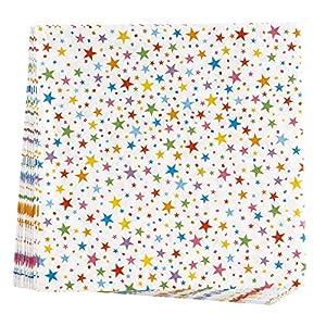 Neviti 678061Carnaval-Servilletas con diseño de estrellas multicolour