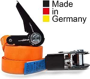 2er Set Kfi Cargo Control Qualitätsgeprüfte Spanngurte Mit Ratsche Länge 4 M Ratschengurt Einteilig Nach En 12195 2 Zurrgurte 400 800 Kg Auto