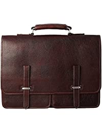 Leather Zone Leather Brown Office Bag