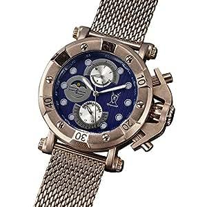 Konigswerk Herren Anzug Uhr braun Milanaise Armband großes