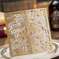 Wishmade elegante taglio laser Gate fold design wedding biglietti di invito per feste di fidanzamento nuziale doccia inviti CW5103