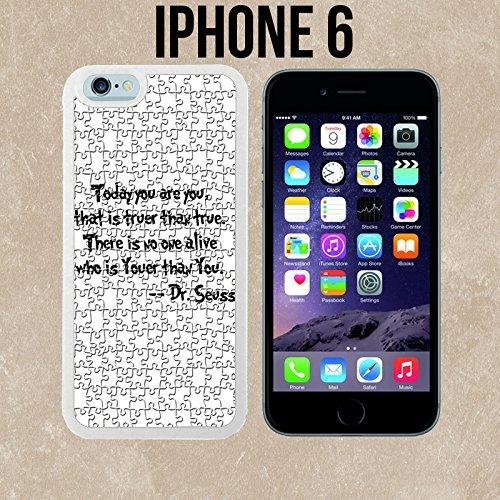 ouucase Citations fabriqué sur mesure étui/housse/étui Skin pour iPhone 6-Blanc-DIY HD Housse PC Pour New Design