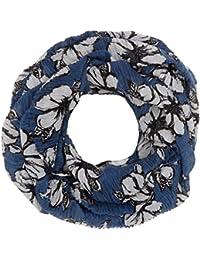 TOM TAILOR Damen Trilby Amazing Flower Loop Blau Real Navy Blue 6593