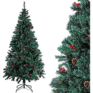 Homfa Albero di Natale altissima qualita' Effetto Realistico con Neve.per Decorazione di Natale