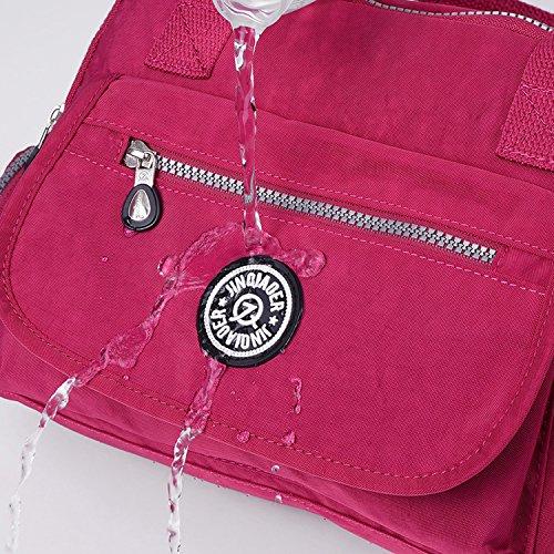 Outreo Borsa Tracolla Impermeabile Borsetta Donna Borse Moda Borse a Spalla Leggero Sacchetto per Ragazze Borsello Viaggio Sport Bag Rosso 1