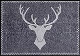 Salonloewe Fußmatte waschbar Franz anthrazit 050x075 cm