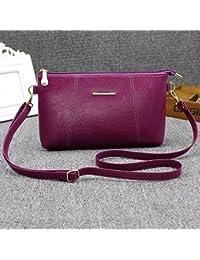 Espeedy Moda coreana mujeres Messenger bolsas de cuero correa ajustable Zipped Solid Color Casual Laides Girls Shoulder Bag