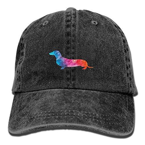 MSGDF Daschund Watercolor Weiner Dog Unisex Washed Twill Cotton Baseball Cap Vintage Adjustable Hat