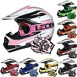 Leopard LEO-X16 Children Kids Off Road MX Motocross Helmet Crash Scooter Motorcycle Motorbike Helmet & Goggles & Gloves