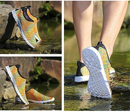 Juleya Unisex Scarpe Adulti da Tennis Aqua Scarpe da Acqua Quick Drying Mesh Slip-On Scarpe da Ginnastica Sportiva 3#