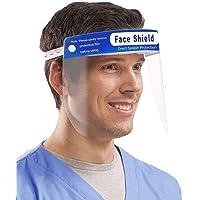 True-Ally 5 Pcs 400 Micron Heavy Duty Plastic Reusable Long Lasting Face Shield visor, Droplet Protection, Transparent…