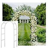 Deanyi Blanc 2.4 m Metal Arch Jardin tonnelle Rose Plat Escalade Arcade Mariage décoration