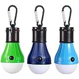 JTENG Lanterne de Camping LED Lanterne 3 Mode de Lampe étanche Nuit d'urgence Lampe Lampes de Poche Portable pour Camping Randonnée Pêche Chasse Randonnée Les Activités de Alpinisme (Lot DE 3)