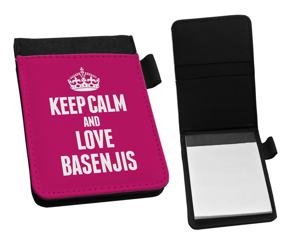Duke Gifts PINK Keep Calm and Love Basenjis Small Notepad 1974