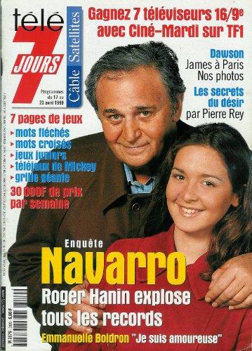 Tl 7 jours - n2029 - 17/04/1999 - Roger Hanin et Emmanuelle Boidron / Navarro