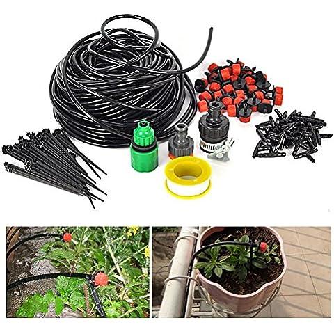 JOYOOO 25m Irrigo - Kit per irrigazione a (Irrigazione A Goccia)