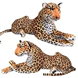 Leopard liegend Wildtier Steppe Plüsch Kuscheltier ca. 80 cm Länge