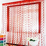 Best Home Fashion Valances - Generic red : Love Heart Faille Drapery String Review