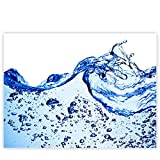 Leinwandbild 100x75 cm - Top - Wandbild XXL Kunstdruck Leinwand Bild Wanddeko Canvas - Meer Wasser See - no. 153, Qualität Leinwand:Premium Plus