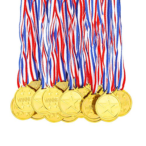 Gold Medaillen Kunststoff Gold Gewinner Medaillen für Kinder Sport Party, Wettbewerb, Preise ()