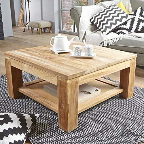 Table Basse carrée en Bois de Teck 80