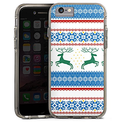 Apple iPhone 7 Bumper Hülle Bumper Case Glitzer Hülle Norwegen Norway Muster Bumper Case transparent grau