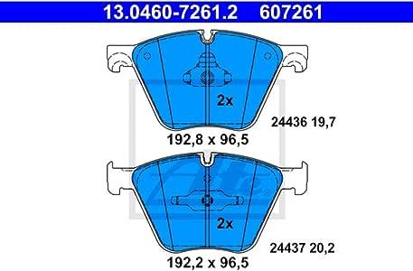 ATE 13.0460-7261.2 Bremsbelagsatz Scheibenbremse 4-teilig