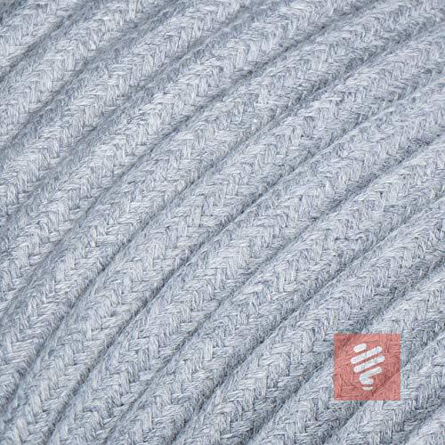Textilkabel für Lampe, Rundkabel, dreiadrig (3x0.75mm²), Hellgrau - 3 Meter