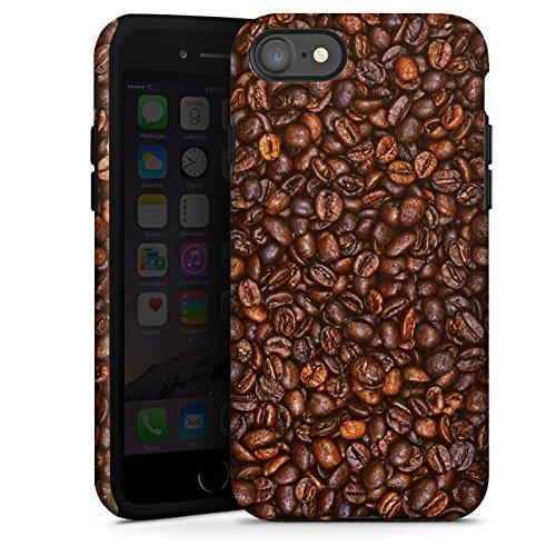 Apple iPhone X Silikon Hülle Case Schutzhülle Kaffee Bohnen Coffee Tough Case glänzend