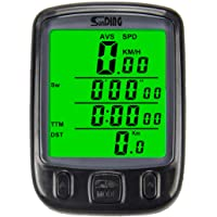 Adeeing Waterproof Bicycle Speedometer Odometer Wired Multi-Function Cycle Stopwatch with Back Light LCD Display