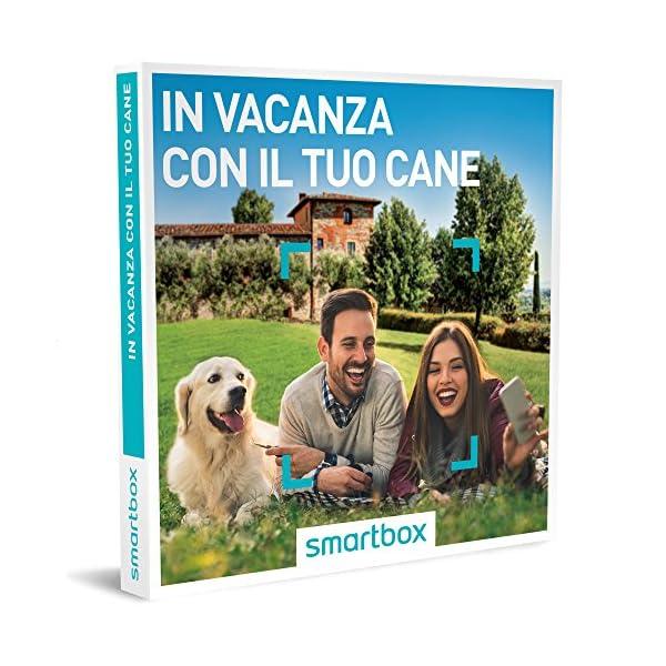 Smartbox Cofanetto Regalo- IN VACANZA CON IL TUO CANE - 67 soggiorni a  scelta in hotel 3* o 4* e B&B