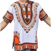 ... artes marciales   Naranja. raanpahmuang marca unisex brillante color  blanco algodón África Dashiki Shirt ... de07cd7c51c9