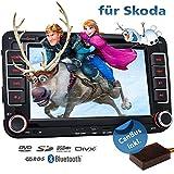 2DIN Autoradio CREATONE VW7000 mit GPS Navigation (Europa), Bluetooth, 7 Zoll (18cm) Touchscreen, DVD-Player und USB/SD - Funktion für Skoda Fabia 2, Roomster, Yeti, Octavia 2, Superb, Rapid, Praktik