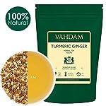 VAHDAM, té de hierbas con jengibre y cúrcuma, hojas sueltas | Juego de 2, 100 g cada uno | India Spice Wonder | Mezcla de...
