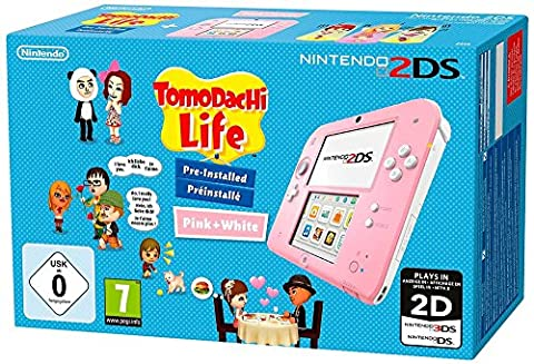 Tomodachi Life 3ds - Console Nintendo 2DS - rose & blanc
