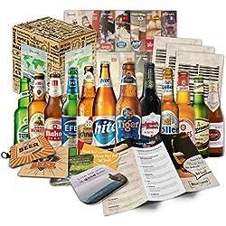 Cervezas de las especialidades (12 botellas) de mundo a las mejores cervezas delmundo dan awaywith caja de regalo (no cerveza barata)